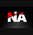 red white color letter combination na n a vector image vector image