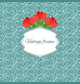 seamless pattern with frame and tulips vector image vector image