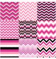 Seamless pink zig zag set
