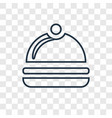 serving concept linear icon isolated on vector image