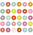 set of isolated donuts vector image vector image