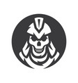 skull spartan soldier silhouette sign vector image vector image