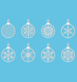 snowflake winter design season december snow vector image vector image