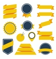 Stickers and Badges Set 6 Flat Style vector image vector image