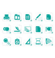 stylized commercial print icons vector image