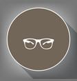 sunglasses sign white icon vector image vector image