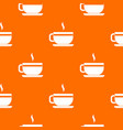 tea cup and saucer pattern seamless vector image vector image
