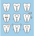 Tooth icons set dental collection vector image vector image