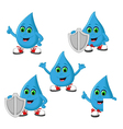 Water antibacteria Icon Set vector image vector image