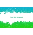 white ink splashes over blue green vector image vector image