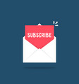 white letter with subscribe newsletter vector image