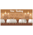 wine tasting in luxury winery flat banner vector image