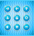 Game Buttons with Icons Set 1 vector image