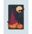 on the theme of Halloween invitation vector image