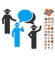 gentlemen discussion icon with lovely bonus vector image