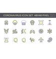 20200125 coronavirus icon pur vector image vector image