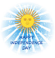 argentina independence day vector image vector image