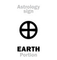 astrology sign of earth portion or pars terrae vector image vector image