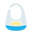 baby apron color icon design sign vector image vector image