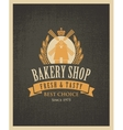 bakery shop with a mill vector image