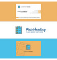 beautiful checklist logo and business card vector image vector image