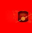 beautiful raksha bandhan banner with golden rakhi