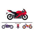 best stylish sport and classic motorcycles set vector image vector image