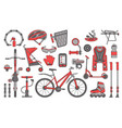 bicycle theme design element set vector image