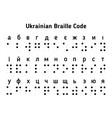 braille ukrainian alphabet letters vector image vector image