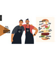 burger house - small business graphics - owners vector image vector image