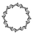 calligraphic wedding frame wreath with vector image vector image