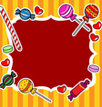 Candy billboard or sign vector image vector image