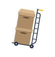 cart delivery service icon vector image