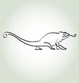 Chameleon in minimal line style vector image