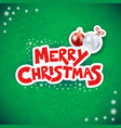 christmas background with text and bauble vector image vector image