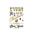 christmas greeting card typography design usable vector image vector image