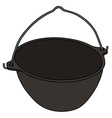 Classic black kettle vector image vector image