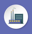 coal power plant icon in flat style on round vector image vector image