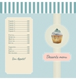 Confectionery menu template with watercolor vector image vector image