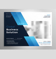 creative blue modern business brochure flyer vector image vector image