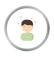 Dizziness icon cartoon Single sick icon from the vector image