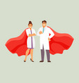 doctors superheroes vector image
