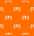 double bed pattern seamless vector image vector image