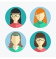 flat design Women and girls icons vector image