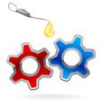 Gear Cog Oil Logo vector image vector image