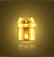 gift box gold icon surprise present template vector image