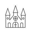 haunted mansion halloween related icon editable vector image