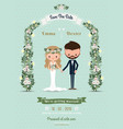 Hipster wedding invitation card bride groom