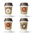 hot coffee takeaway cups vector image vector image