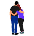 hugged couple in love happy boyfriend and girl vector image vector image